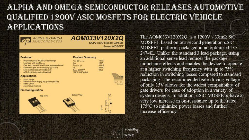 Alpha & Omega Semiconductor 1200 V MOSFETs