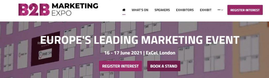 B2B Marketing Expo 2021