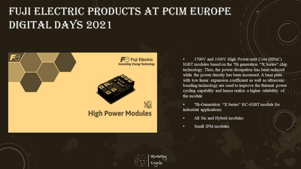 Fuji Electric at PCIM Europe Digital Days 2021