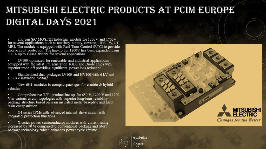Mitsubishi Electric at PCIM Europe Digital Days 2021