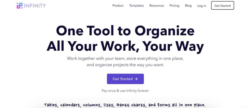 Infinity task management software