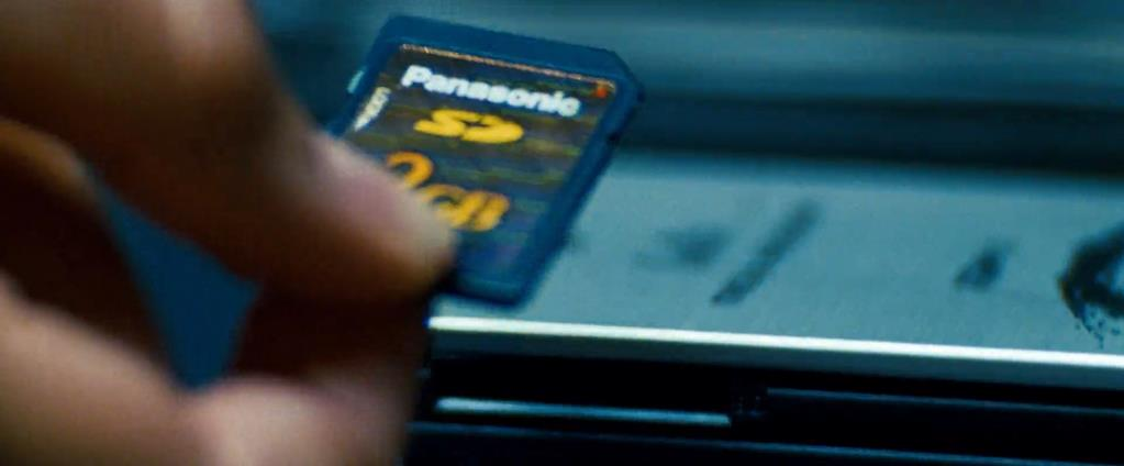 Transformers Product Placement - Marketing Psycho Panasonic SD card