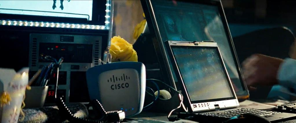 Transformers Product Placement - Marketing Psycho Cisco modem