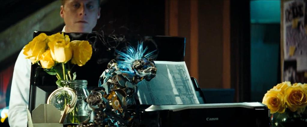 Transformers Product Placement - Marketing Psycho Canon printer