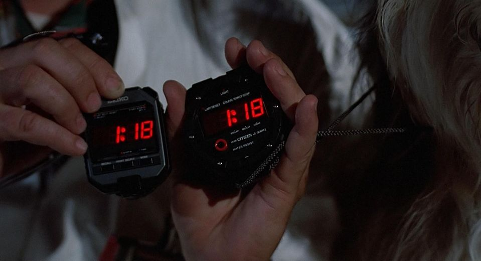 Citizen and Seiko Stopwatch Back to the Future