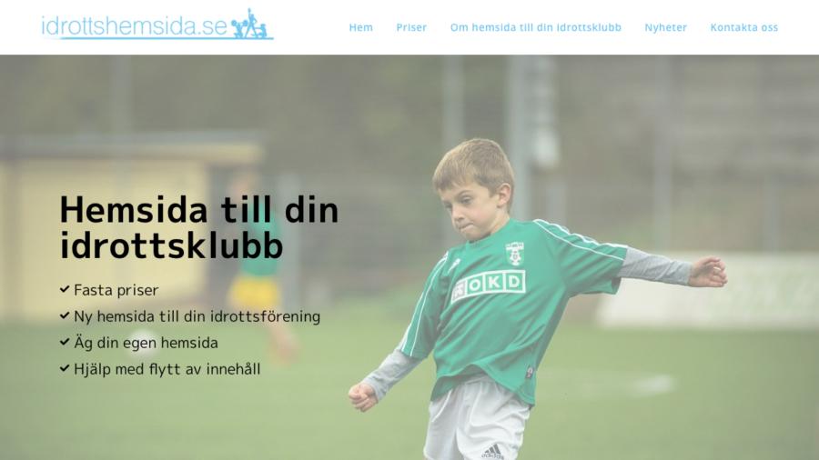 idrottshemsida.se - hemsida till din idrottsförening