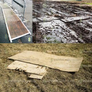 damp plywood ground mats