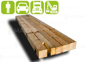 Trä stockmattor