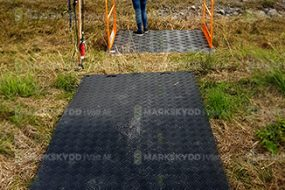 bridge over ditch and mats