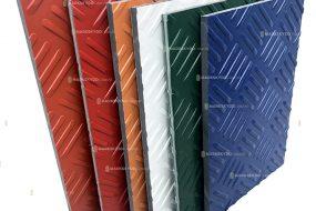 colored mats samples cut