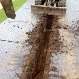 gräva markskydd smala hål golf course_logo