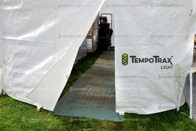 tent with ground protection mat