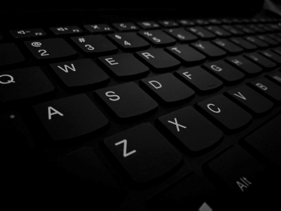 En närbild av ett tangentbord
