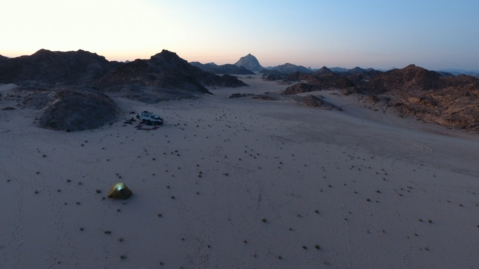 Beautiful view at the camp in the Eastern Desert of Marsa Alam Egypt