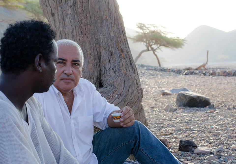 Diaa talking with man in the Eastern Desert of Marsa Alam Egypt