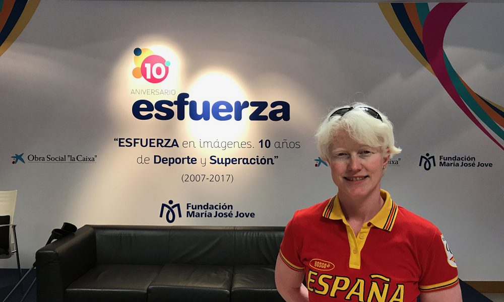 Marta Arce en el 10 aniversario Esfuerza.