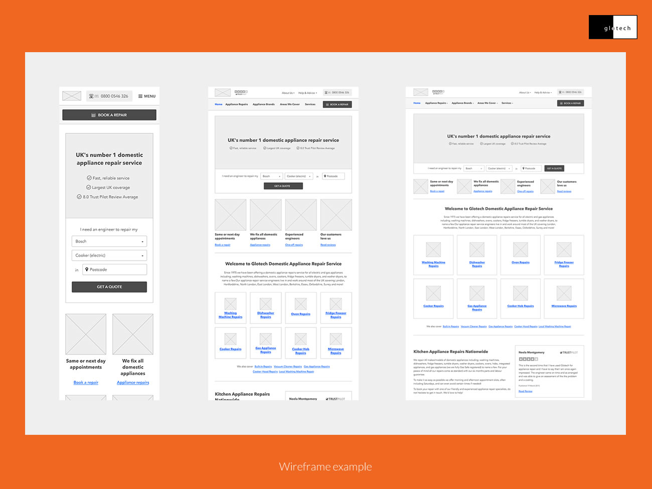 Picture of responsive wireframes