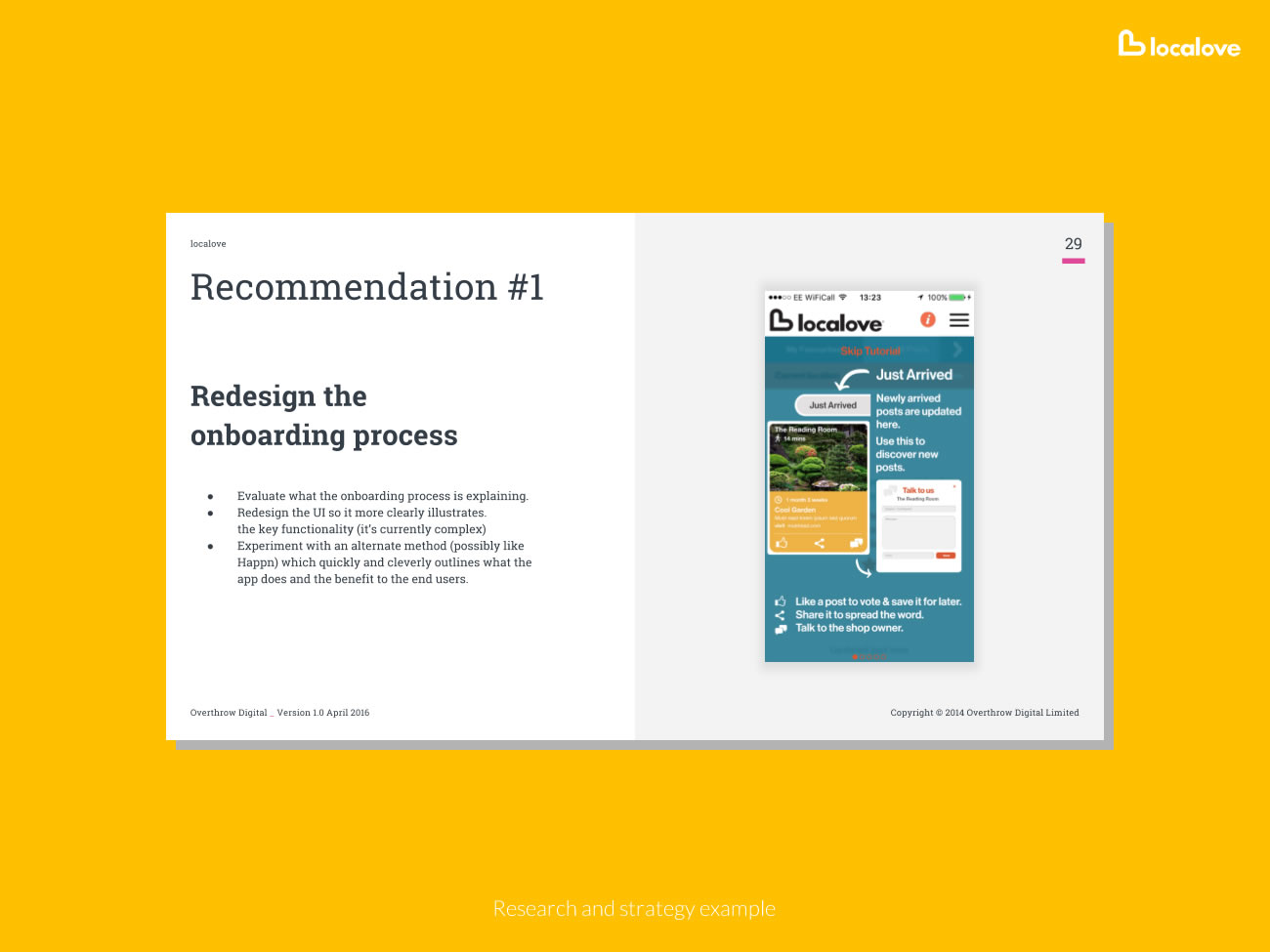 Picture of research document on-boarding process examples