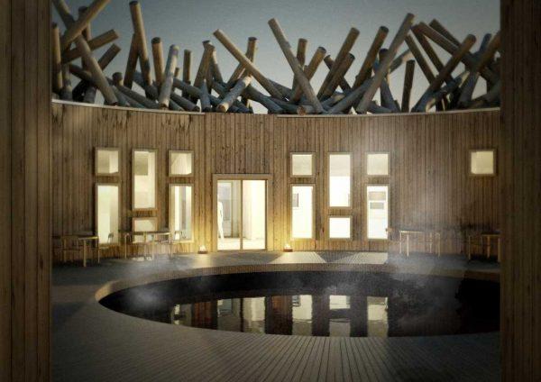 Sugen på en äventyrlig spaupplevelse? Kolla in det nya flytande hotellet i Norrland