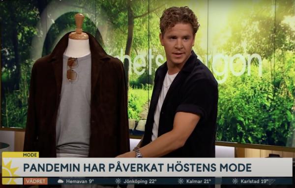 """Sensommar-stil och höstmode i TV4 Nyhetsmorgon: """"Satsa på en ledig och snygg sweatsuit"""""""