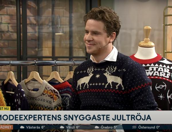 """Martin om jultröjor i TV4 Nyhetsmorgon: """"Ska vara lite fulsnyggt"""""""