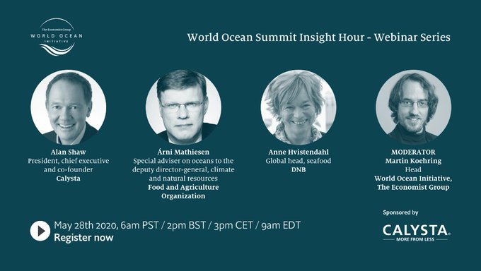 Moderating webinar on sustainable seafood