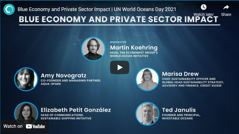 Moderating webinar on blue economy and business