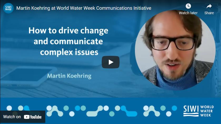 Speaking at World Water Week Communications Initiative