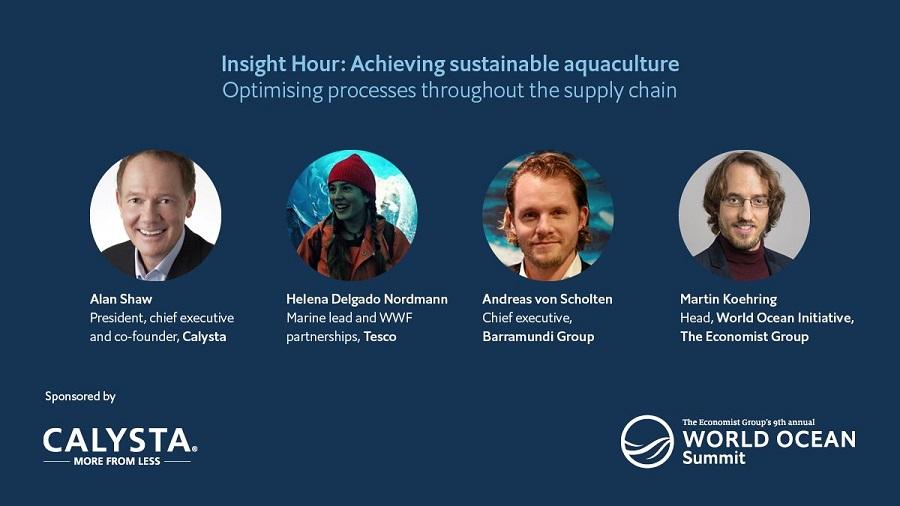 Moderating webinar on sustainable aquaculture