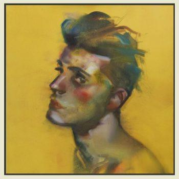 'Jeune homme'- 50x50 cm-acrylverf op doek-VERKOCHT