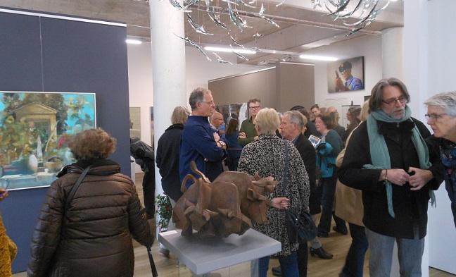 Galerie Bonnard tijdens de opening