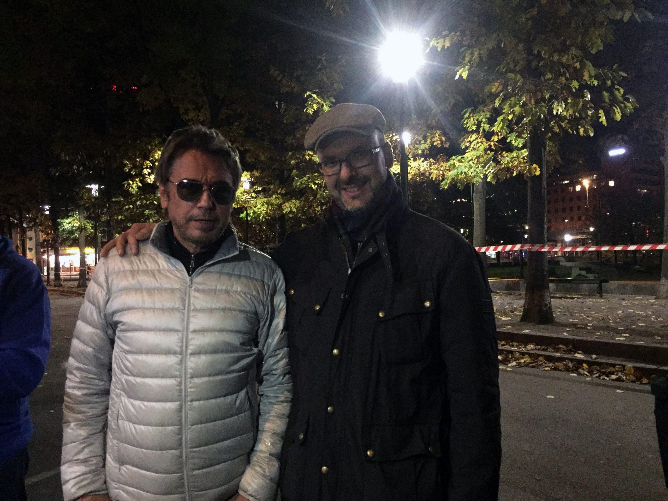 FORNYELSE: Jeg har fulgt med på Jean-Michel Jarre (t.v.) siden 1988, men mistet etterhvert interessen på begynnelsen av 2000-tallet. Høstens konsert i Oslo Spektrum bekreftet Jarre som den mest nytenkende konsertartisten vi har. Foto: Privat