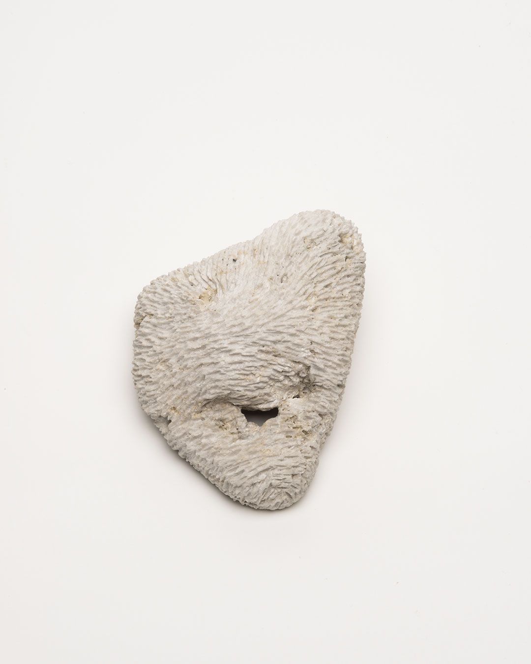 Vivi Touloumidi, What Will the Cosmos Say? 2013, brooch; pumice stone, steel, 110 x 80 x 70 mm, €280 (Image: front)