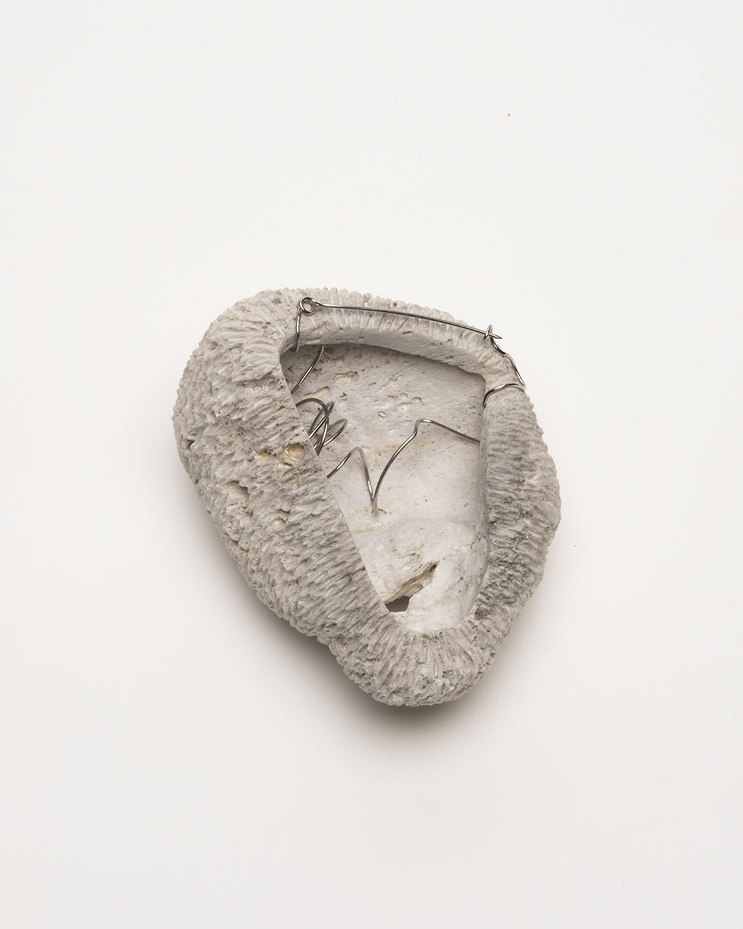 Vivi Touloumidi, What Will the Cosmos Say? 2013, brooch; pumice stone, steel, 110 x 80 x 70 mm, €280 (Image: back)