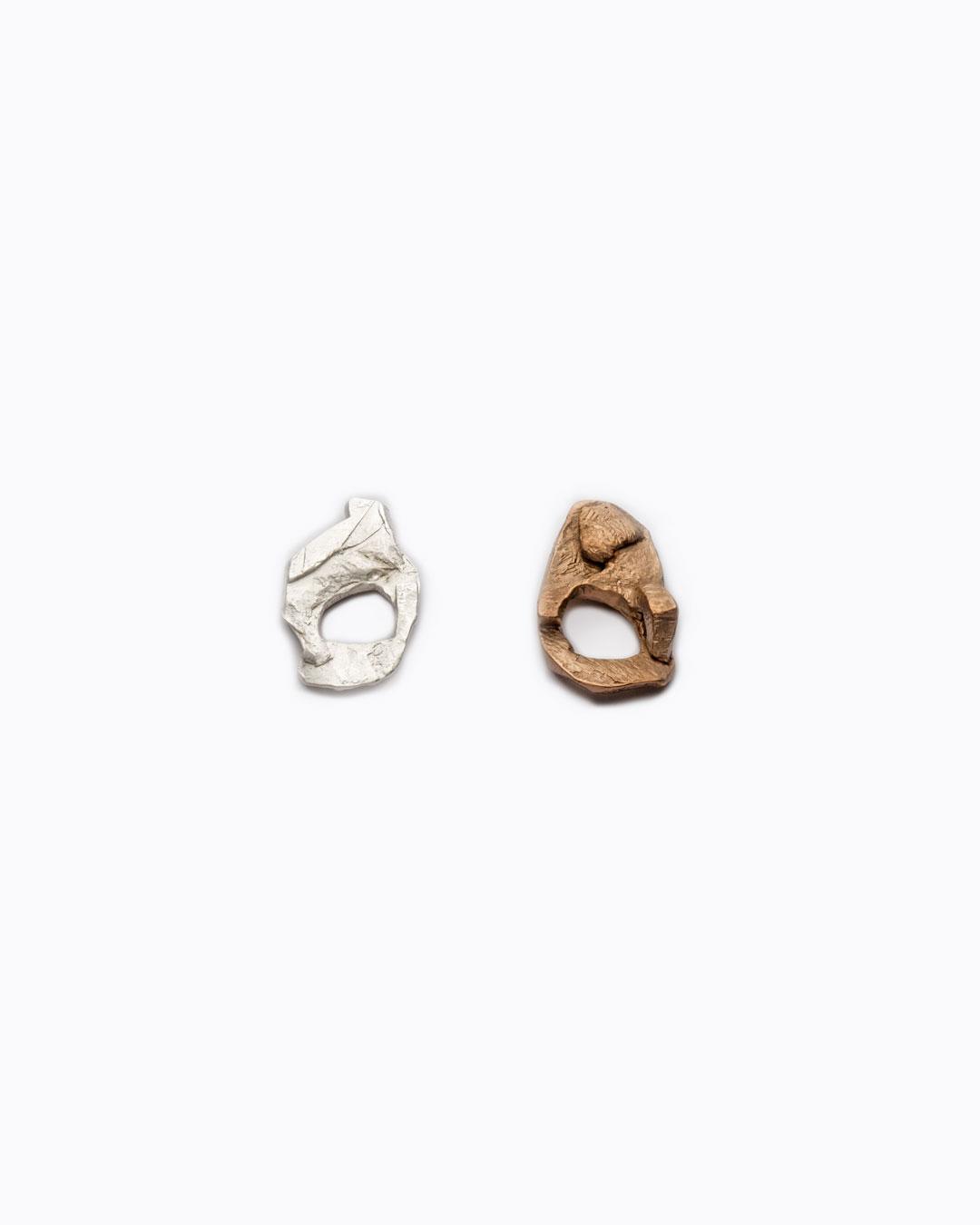 Iris Bodemer, untitled, 2012, ring; silver, 30 x 55 x 5 mm (left), €750