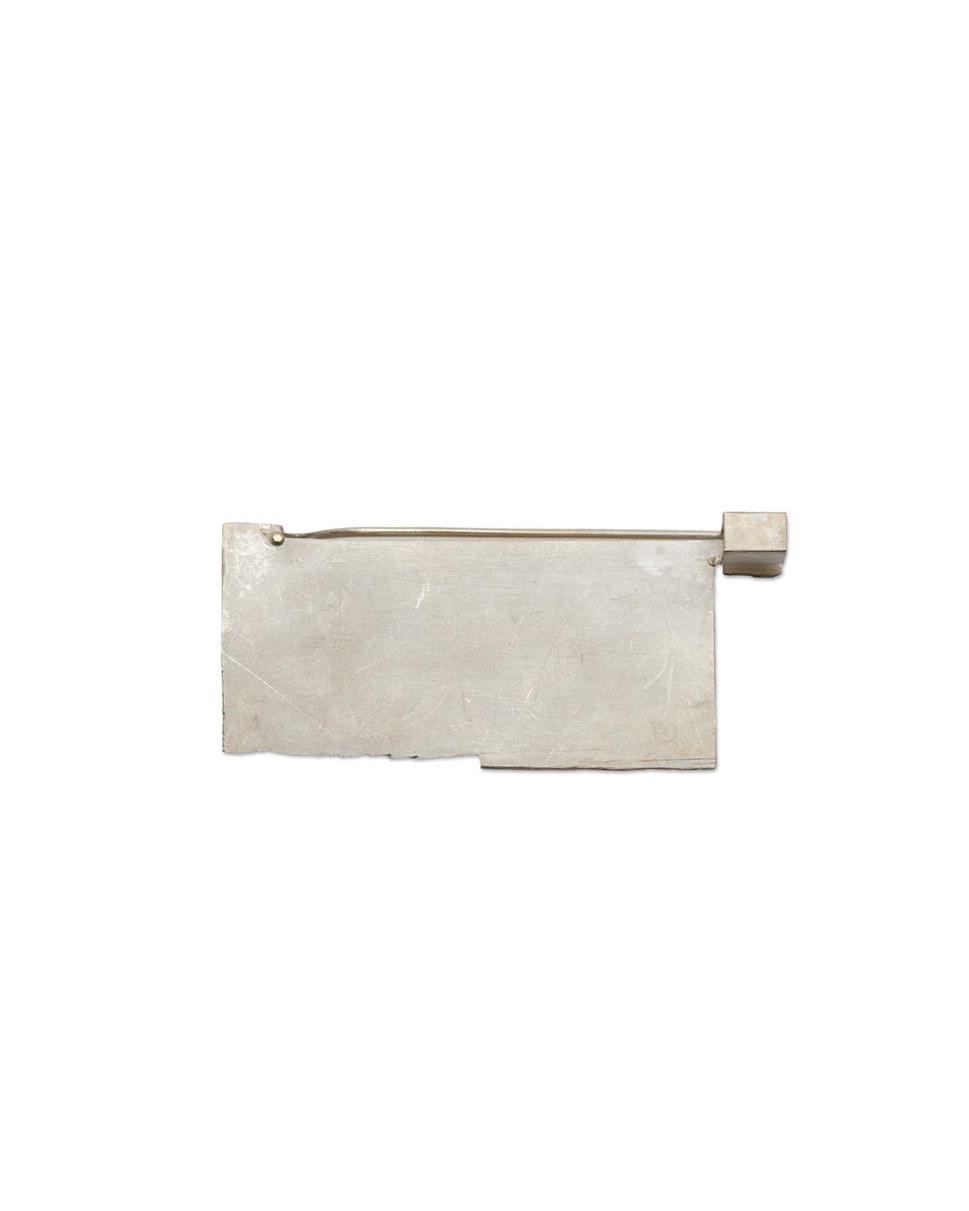 Noam Elyashiv, untitled, 2016, brooch; reclaimed silver, 50 x 23 x 6 mm, €1150