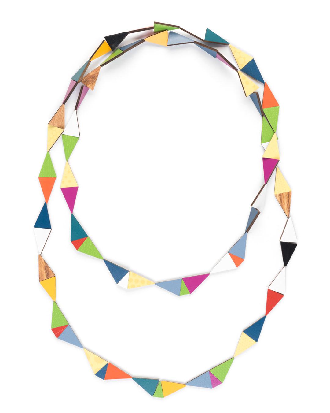 Rebecca Hannon, Harlequin, 2016, neckpiece; laminate, 350 x 180 x 20 mm, €1090