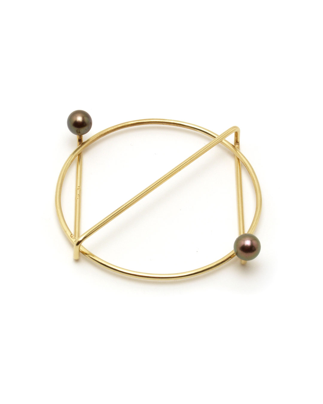 Herman Hermsen, untitled, 1989, brooch; 14ct yellow gold, pearls, 60 x 50 x 10 mm, €1020