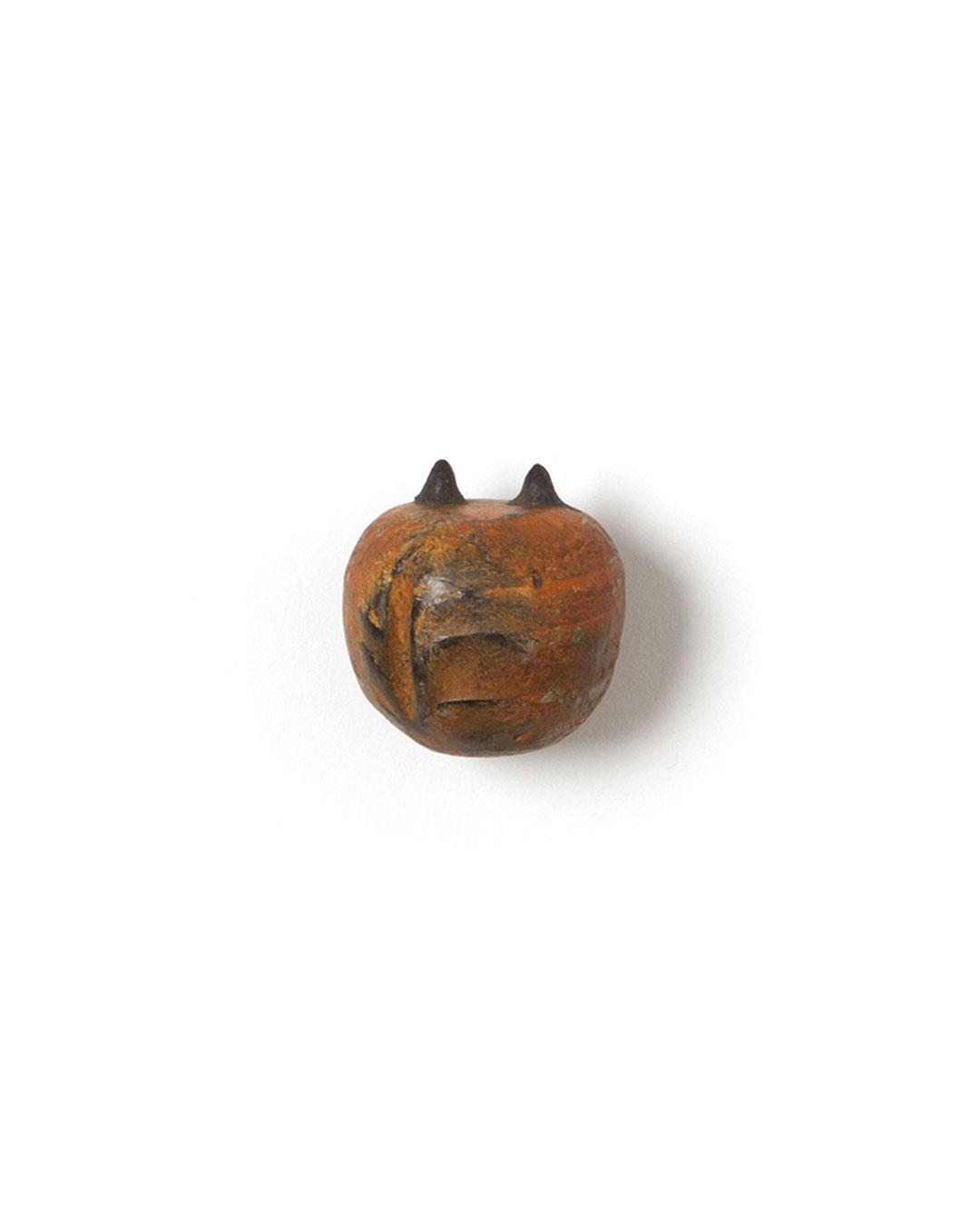 Mari Iwamoto, Weak Monster, 2015, brooch; wood, silver, earth, acrylic paint, 20 x 23 x 20 mm (small), €150