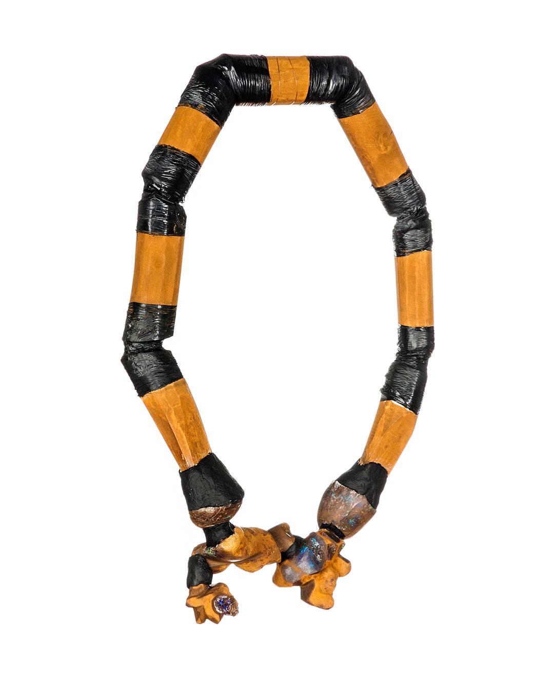 Levan Jishkariani, untitled, 2013, necklace; native opal, wood, plastic, 360 x 250 mm, €3390