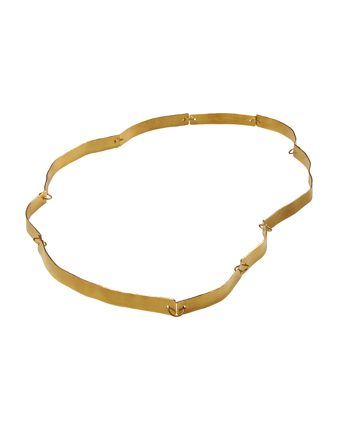 Annelies Planteijdt, Mooie stad - Gouden water (Beautiful City - Golden Water), 2020, necklace; 18ct gold, 640 mm, €8100