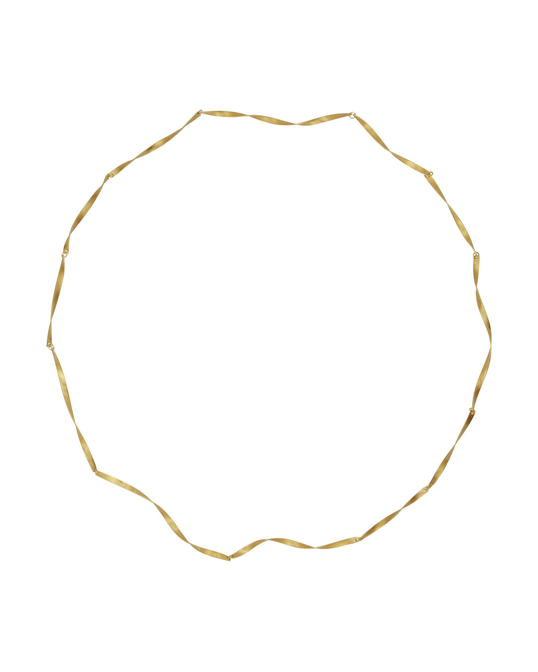 Annelies Planteijdt, Mooie stad - Wervelend water (Beautiful City - Swirling Water), 2020, necklace; 18ct gold, 640 mm, €2950