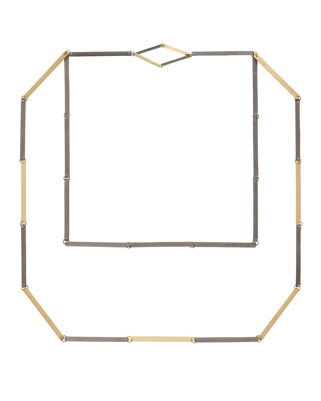 Annelies Planteijdt, Mooie stad – Collier en tegels (Beautiful City - Necklace and Floor Tiles), 2017, necklace; gold, tantalum, 300 x 270 mm, €7450 (image 1/3)