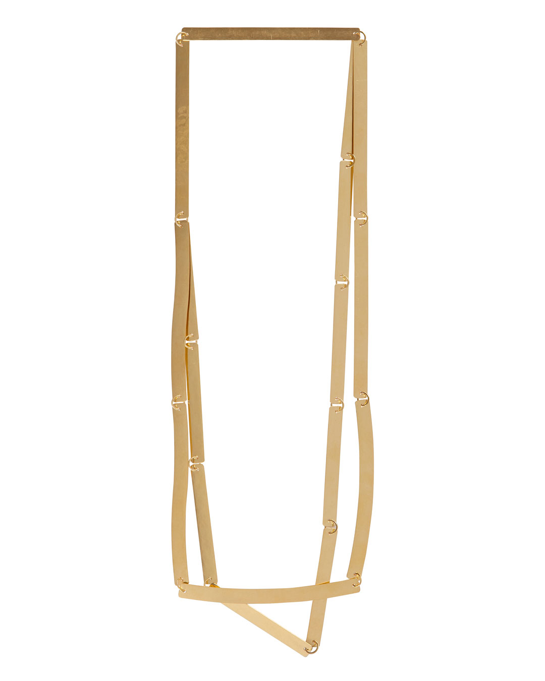 Annelies Planteijdt, Mooie stad – Collier en boek (Beautiful City - Necklace and Book), 2017, necklace; gold, 360 x 240 mm, price on request (image 2/3)
