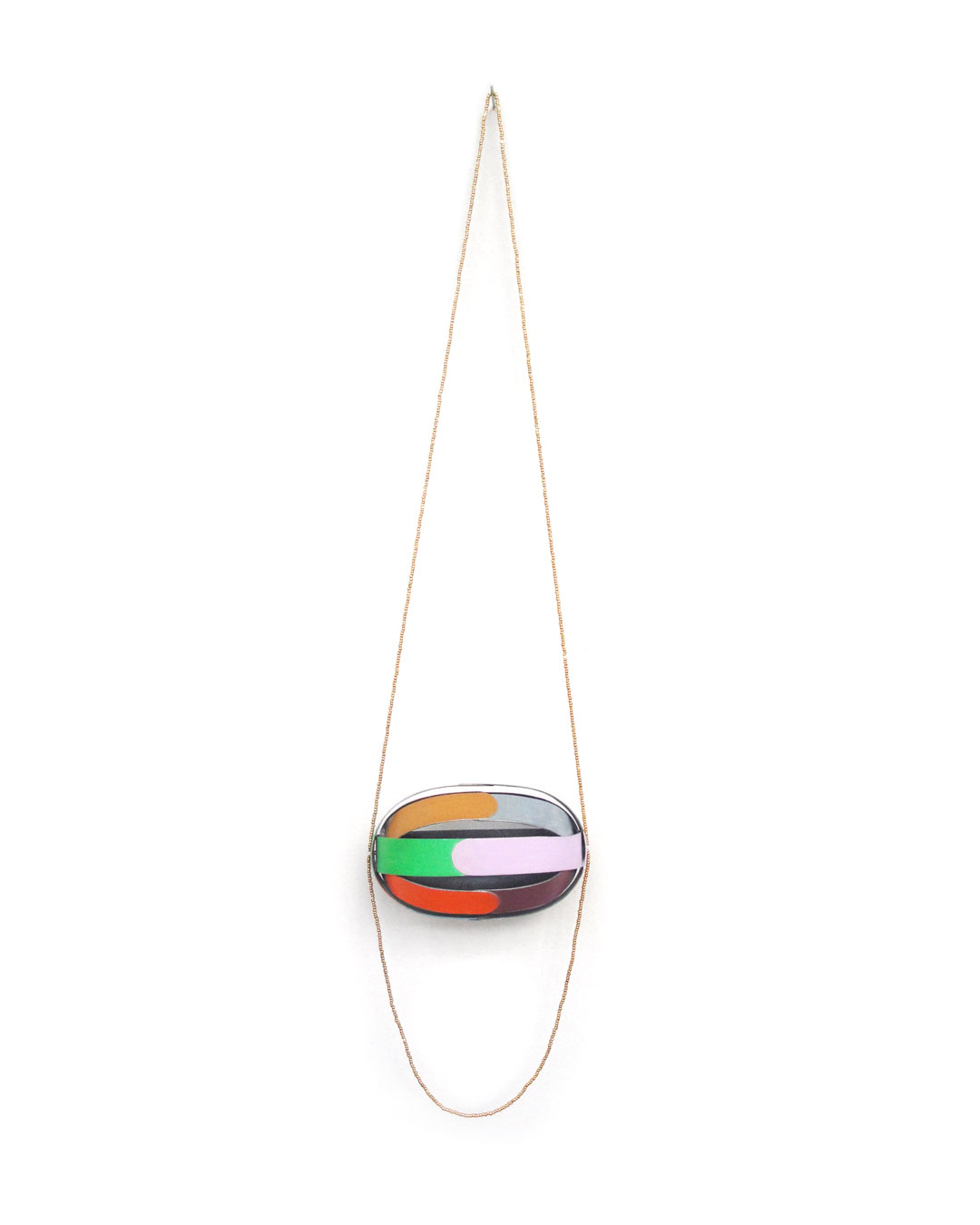Lucy Sarneel, Beady Greed, 2014, necklace; zinc, gold-plated beads, acrylic paint, varnish, 640 x 85 x 50 mm, €1400
