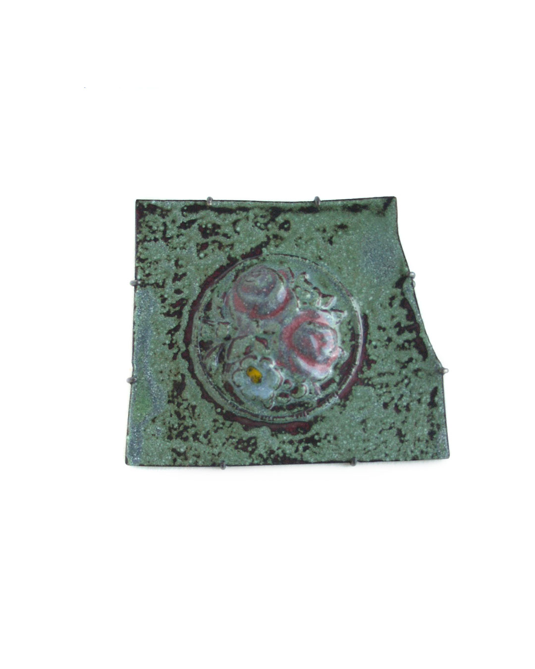 Vera Siemund, untitled, 2006, brooch; enamel, copper, silver, 50 x 60 x 5 mm, €705