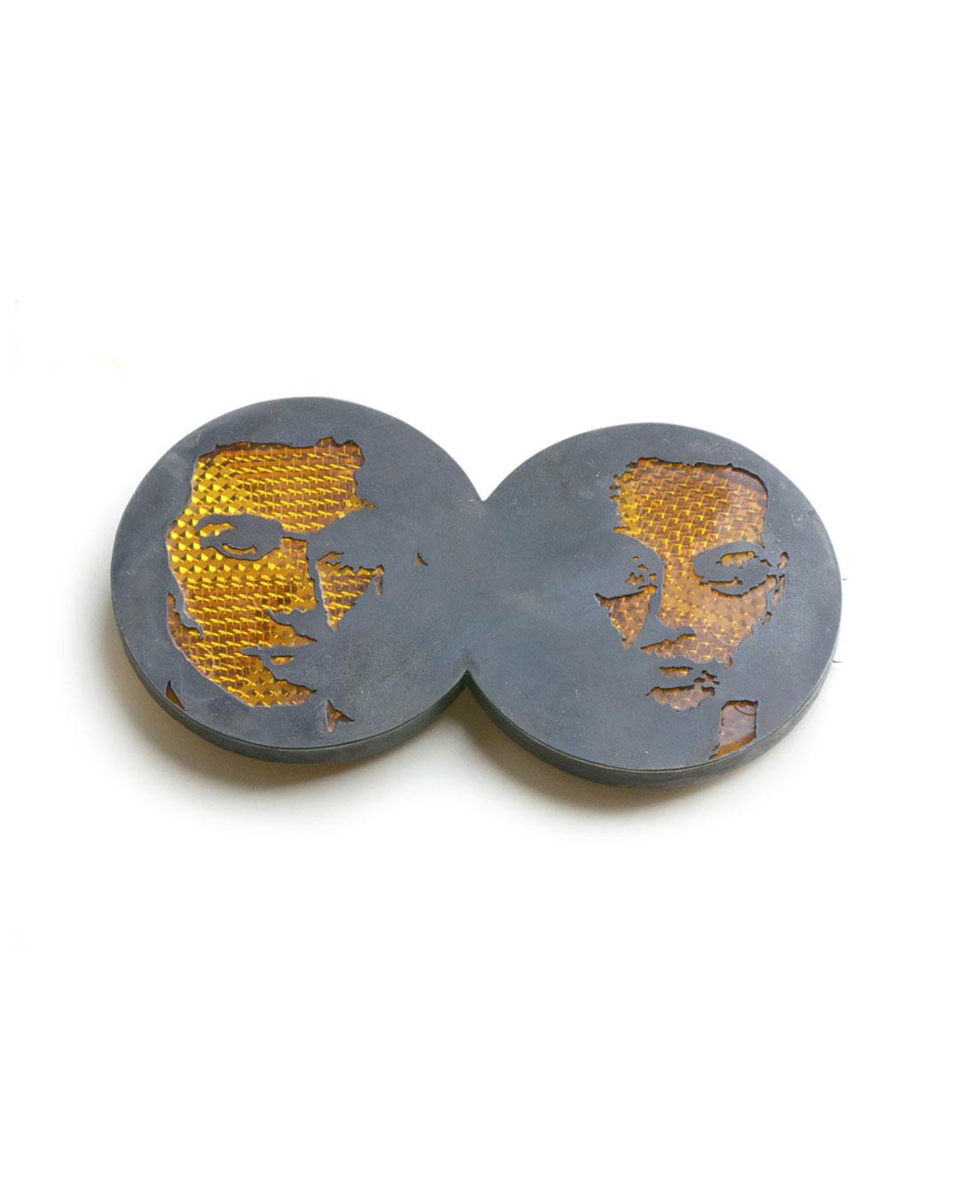 Vera Siemund, untitled, 2009, brooch; iron, plastic, silver, 115 x 60 x 10 mm, €710
