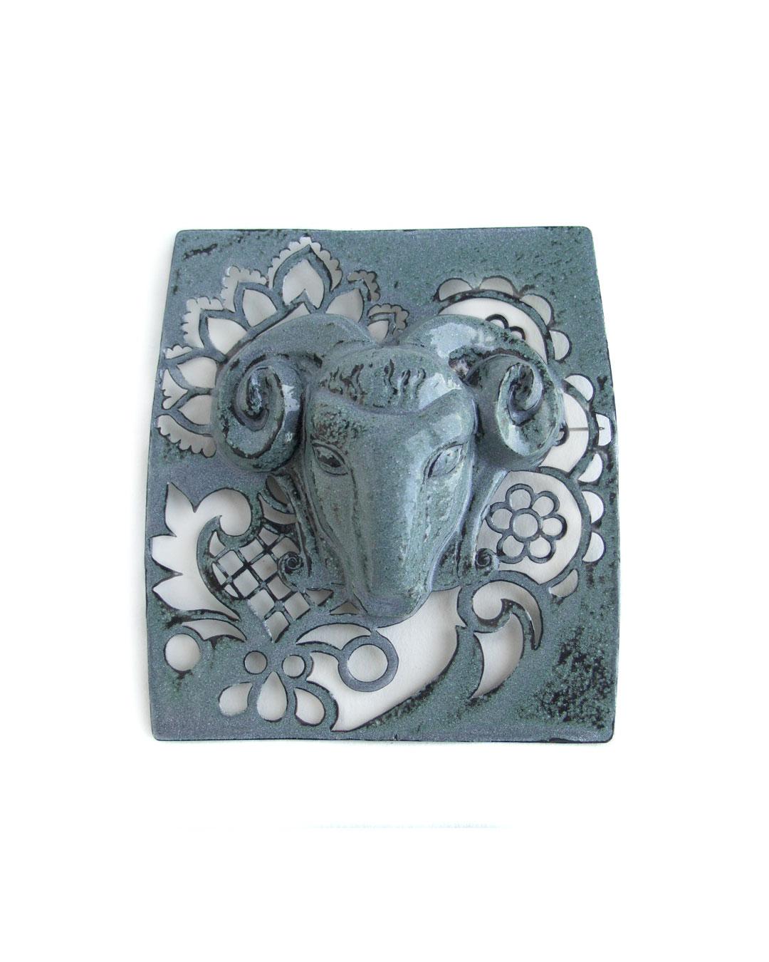 Vera Siemund, untitled, 2005, brooch; enamel, copper, 60 x 59 x 20 mm, €1550