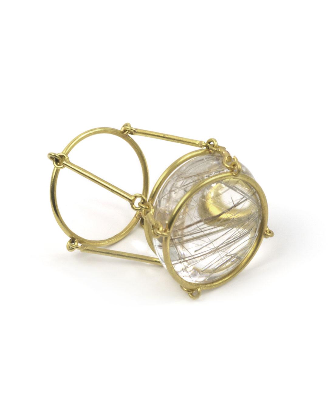 Etsuko Sonobe, untitled, 2006, ring; 20ct gold, rutile quartz, 28 x 21 mm, €1550
