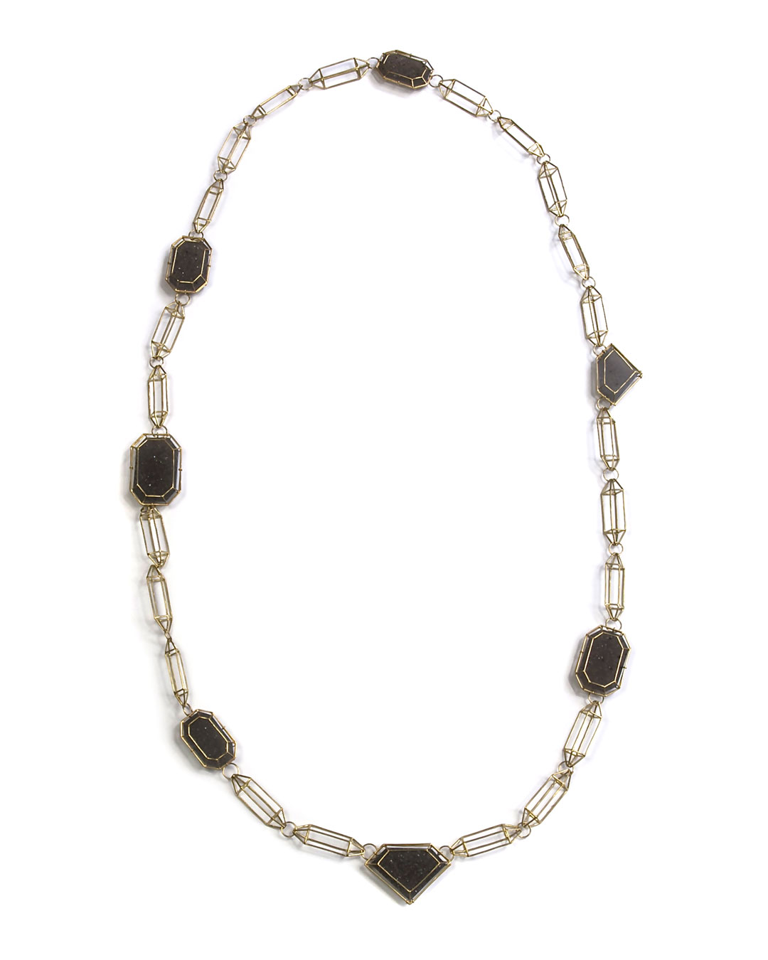 Etsuko Sonobe, untitled, 2006, necklace; 18ct gold, agate, 425 x 200 x 7 mm, €7000